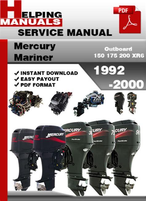 small engine repair manuals free download 2005 mercury mountaineer instrument cluster mercury mariner outboard 150 175 200 xr6 1992 2000 service repair m