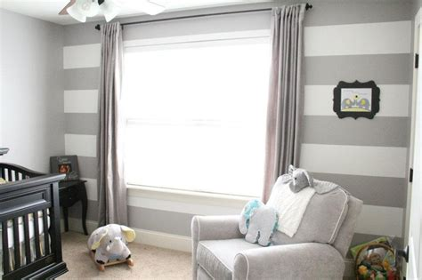 striped accent wall transitional girl s room grey yellow and teal nursery gender neutral teal