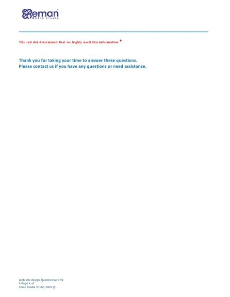 website design questionnaire form web site design questionnaire