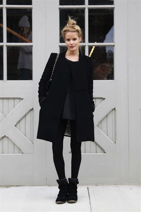 Simple Stylish Wardrobe by Fashion Inspiration All Black Simple Chic