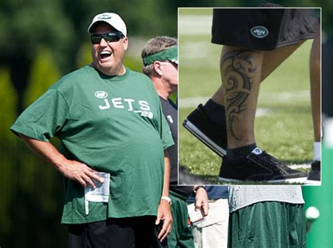 rex ryan tattoo myers rex s ink can t cover jet flaws ny daily news