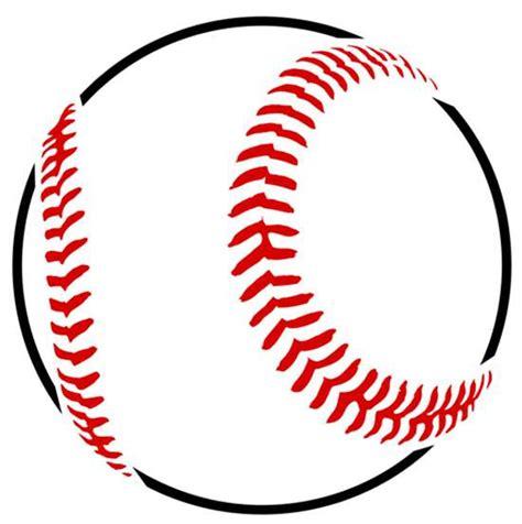 baseball pattern template stencils sized baseball stencil stencilease