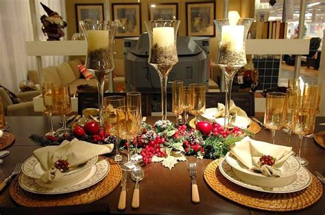 elegant dinner tables pics diy christmas table decorations modern magazin
