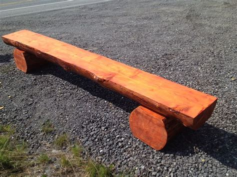bench log 17 best images about wood work on pinterest log