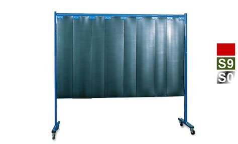 welding shield curtain 1 panel mobile welding protection strip screen dark green