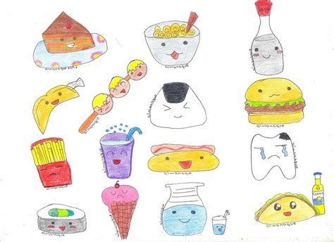 imagenes kawaii de comida para dibujar comida kawaii color by almanaque2092 on deviantart