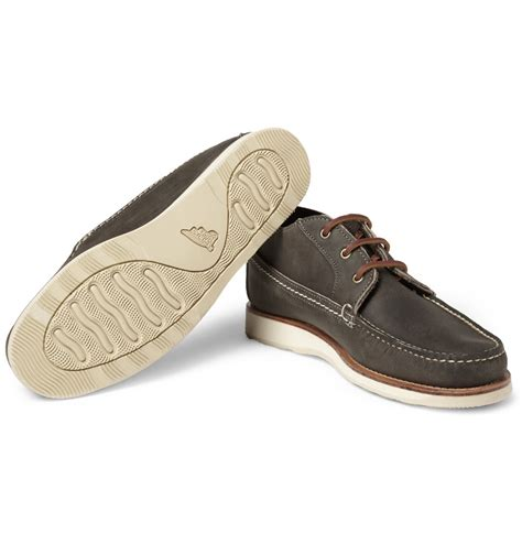 wing slippers for lyst wing leather chukka boots in gray for