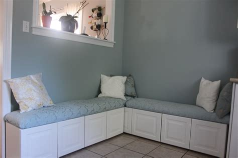 banquette bench kitchen diy ikea hack banquette from lidingo cabinets banquette
