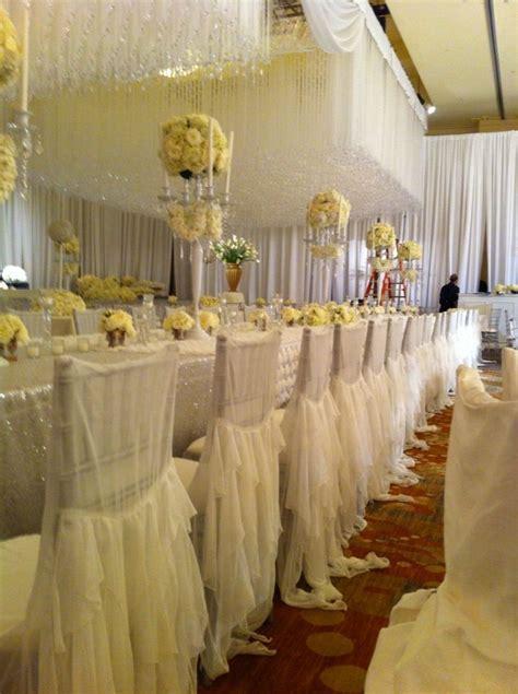 Nene Leakes' Wedding reception with over 400 white chiffon