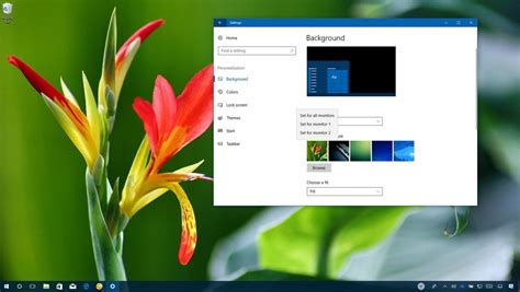 different wallpaper for each desktop windows 10 how to set different wallpapers on multiple monitors in