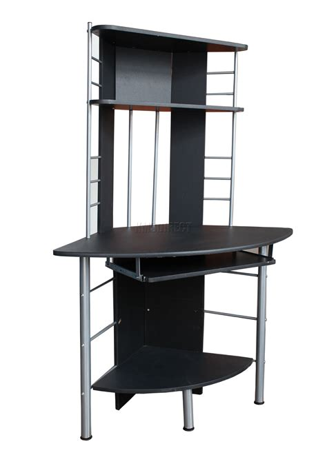 Computer Desk Unit Computer Desk Home Office Table Pc Work Station Corner Unit Furniture 017 Black Ebay