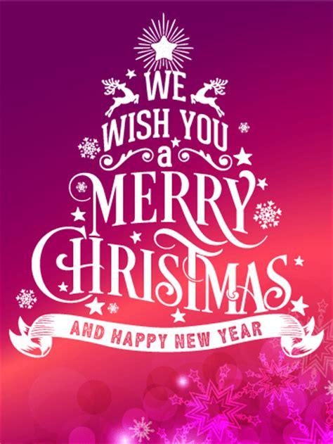 typographic style christmas card birthday greeting cards  davia