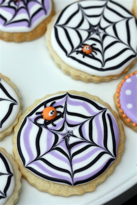 How To Make Decorated Cookies by How To Make A Spider Web Decorated Cookie Sweetopia
