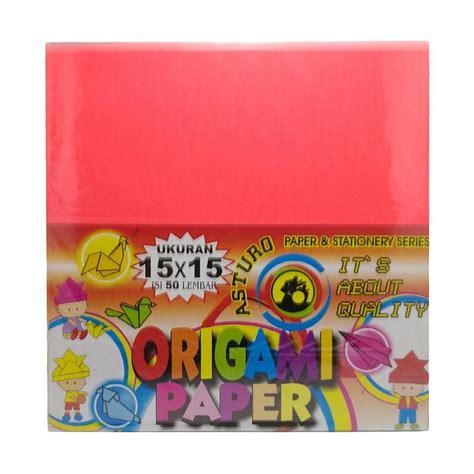 Kertas Origami Asturo 20x20 Isi 50 Lembar jual asturo origami paper kertas warna 15 x 15 cm 50