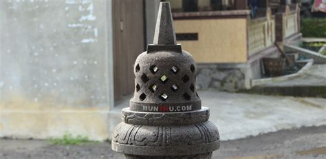 Miniatur Stupa Candi Borobudur Ukuran Mini Batu Candi Hitam Asli Jogja munthu jual cobek batu lumpang lion patung dll