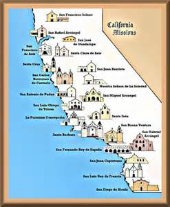 california missions map printable feast day of blessed junipero serra