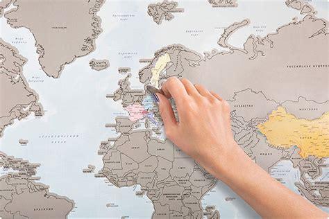 map your travels une carte du monde qui vous permet de gratter tous les