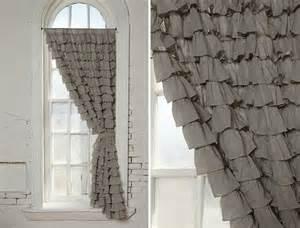 Gray Ruffle Curtains S Ruffled Curtains