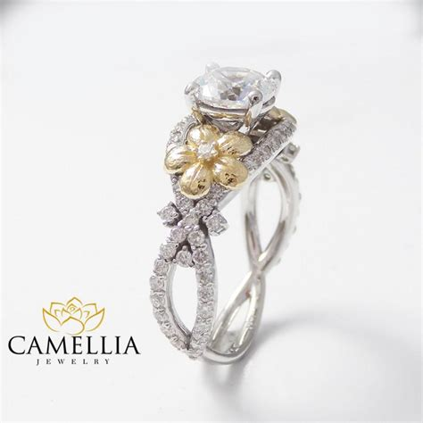 Handmade Diamonds - handmade ring floral engagement ring