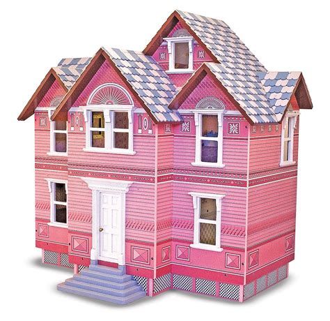 melissa doug classic heirloom victorian doll house amazon com melissa doug classic heirloom victorian wooden dollhouse melissa doug