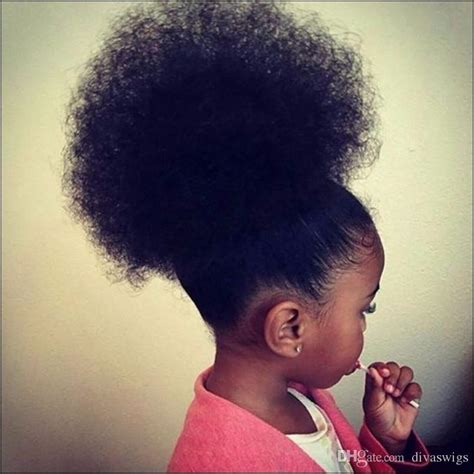 small afro puff buns hair pieces afro puffs ponytails drawstring kinky curly hair ponytail