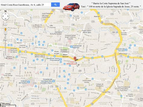 san jose map hotels map san jose hotel san jose costa rica guesthouse
