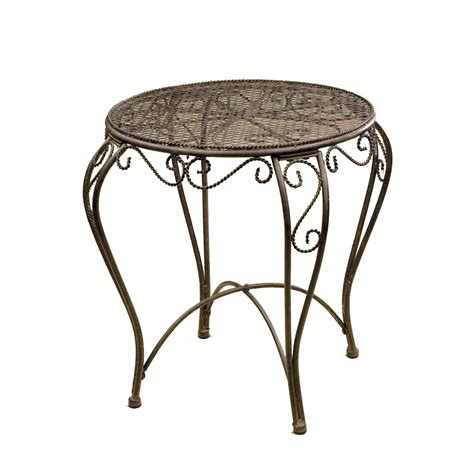 patio accent table deer park ironworks imperial round patio round accent table