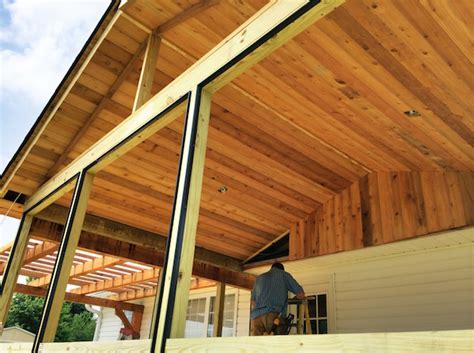 screened porch w cedar ceiling deckbuilders