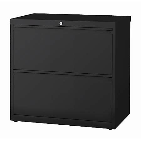 workpro 2 drawer file cabinet workpro 30 w 2 drawer steel lateral file cabinet black by