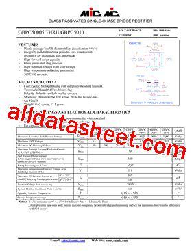 gbpc5010 datasheet pdf mic rectifiers