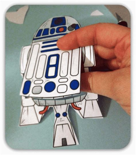Wars Paper Crafts - make an wars r2d2 bookmark craft