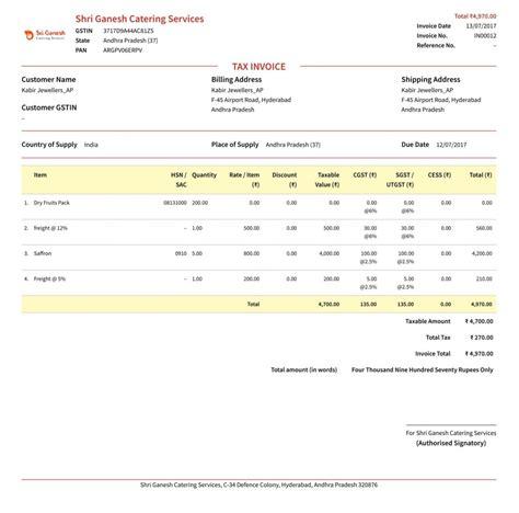 tax invoice gst invoice guide learn about gst invoice bill