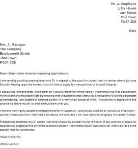 aircraft cleaner cover letter sample lettercv com