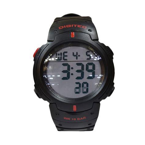 Jam Digitec Merah jual digitec dg3035t digital jam tangan pria hitam merah