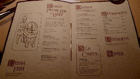 house of prime rib san francisco ca menu picture of house of prime rib san francisco tripadvisor