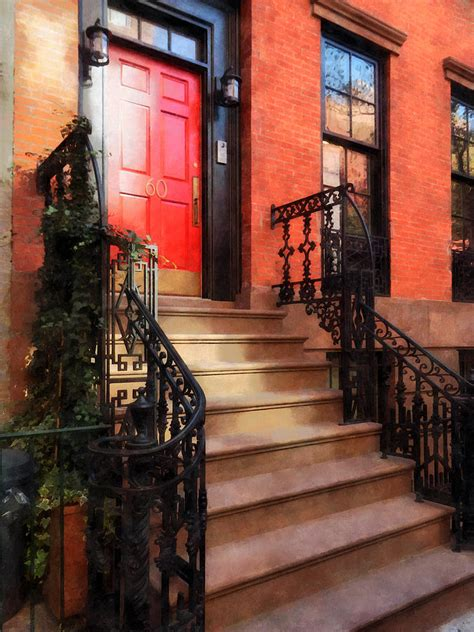 Door Nyc by Greenwich Brownstone With Door Photograph By