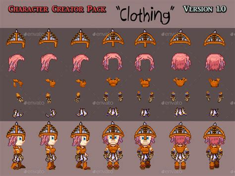 animated pixel character creator  roencia graphicriver