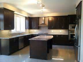 kitchens dark cabinets modern kitchen dark cabinets cream tiles kitchen pinterest