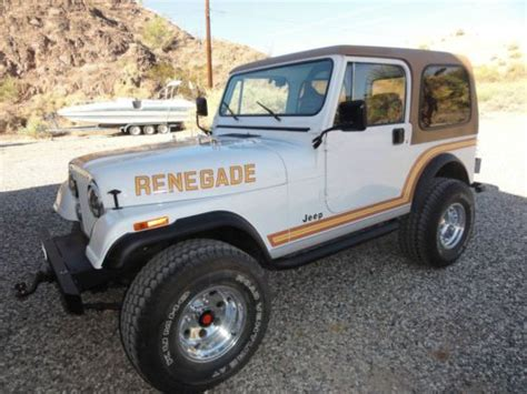 1985 Jeep Renegade Sell Used 1985 Jeep Cj7 Renegade Sport Utility 2 Door 4 2l