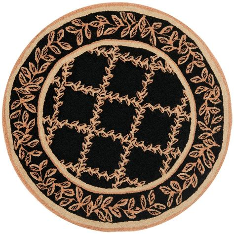 Safavieh Chelsea Black Gold 3 Ft Round Area Rug Hk230d 3r 3 Foot Rugs