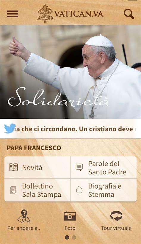 sito ufficiale santa sede vatican va app android su play