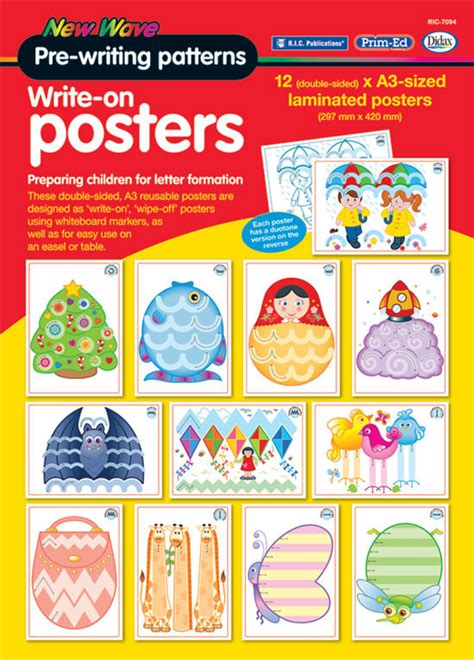 pattern writing blueberry publication new wave pre writing patterns write on posters r i c