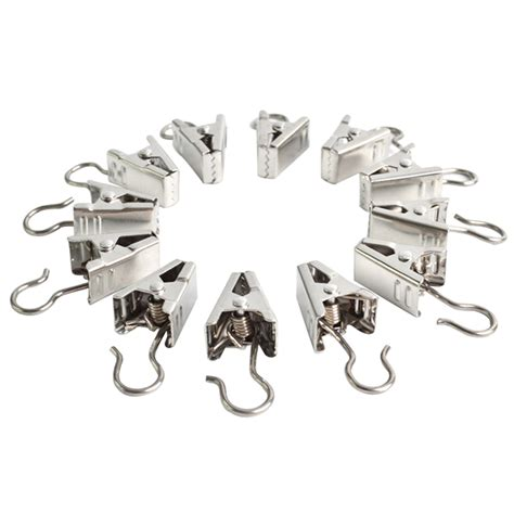 curtain rod hooks clips 20pcs stainless steel window shower curtain rod clips hook