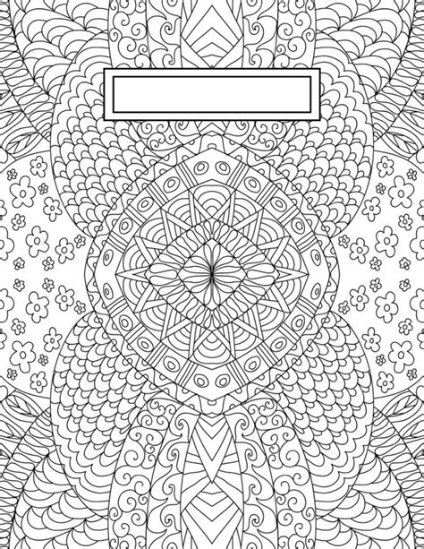 printable binder cover sheets back to school binder cover adult coloring pages