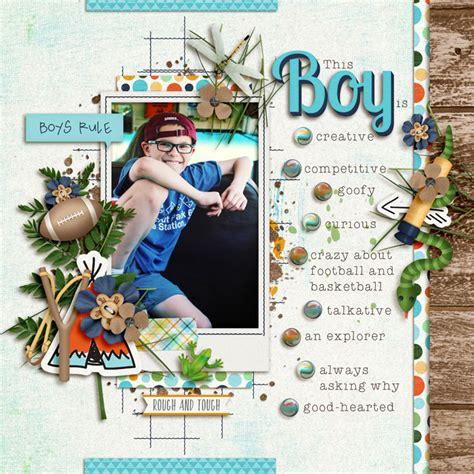 backyard boys digital scrapbook kit backyard boys kristin aagard