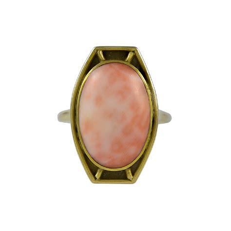 lebolt co lebolt coral gold ring