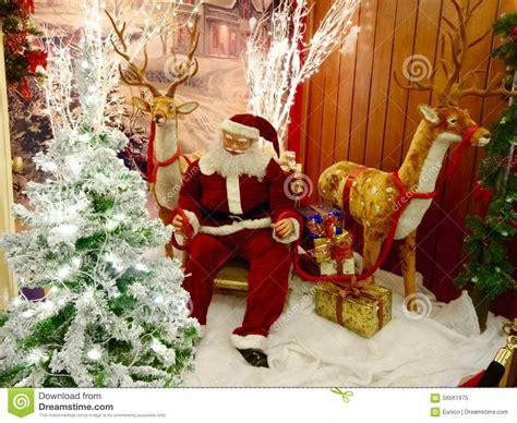 santa ckaus with snow decoration decorations stock photo image 56561975
