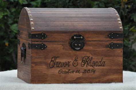 Wedding Treasure Box by Large Rustic Wedding Card Box With Card Slot Treasure Chest