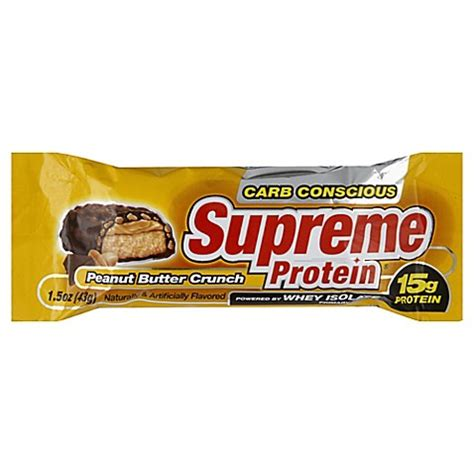 supreme protein buy supreme protein 174 1 5 oz peanut butter crunch protein