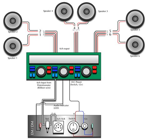 wiring 3 speakers to a 2 channel diagram wiring